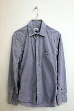 Lacoste Men Size XS Checkered Shirt Chemise Shirt Long Sleeve Logo Man