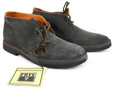 New Frye Mens Arden Leather Chukka Slate/Gray Suede Ankle Boots 9 MSRP $258