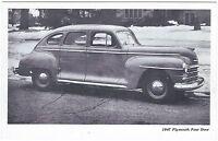 1947 PLYMOUTH 4-Dr SEDAN Original Vintage DEALER SUPPLY-Style Postcard UNUSED ^