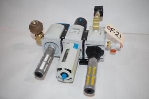 FESTO AIR REGULATOR VALVE MS6N-EM1-1/2-5 MS6N-LFR-1/2-D6-C-R-M-AS  EE-1/2-10V24S
