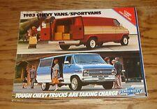 Original 1983 Chevrolet Truck Chevy Van / Sportvan Sales Brochure 83 Cutaway