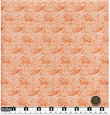 Quilting Fabric Light Salmon Pink Paisley Style Pattern Fat Qs 100% Cotton PIP2