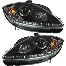 Scheinwerfer Set für Seat Leon Typ 1P Bj. 05-09 LED klar/schwarz Dragon Lights