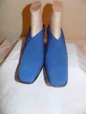 Donald J Pliner Lima Blue Microfiber Clogs Slides Mules Shoes Size 9.5  M