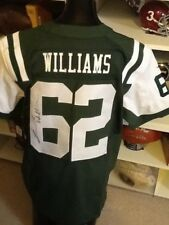 NEW YORK JETS SIGNED NIKE ON FIELD JERSEY COA  NFLPA NWT LEONARD WILLIAMS ROOKIE