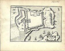 Antique map, Le Chasteau de Brest