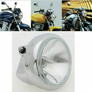 Chrome Motorcycle Headlight Round Head Lamp Assembly for BMW R1200GS Amber Light