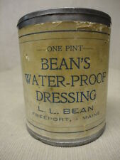Vntg Early L L BEAN Freeport Maine ME Moccasins Boots Leather Dressing Pint Can