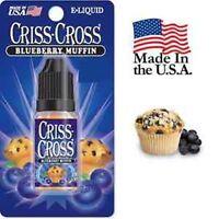 Criss Cross Vape Vapor USA 10ML Blueberry Muffin 0 mg No Nicotine - $4.99