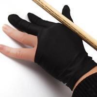 Guanto 3 Dito Guanti Tiratori Elastica Glove Nero Per Biliardo Pool Snooker