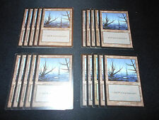20 Basic Land #341 - SAME ART - Swamp - Urza's Saga - MP-NM - Magic MTG FTG