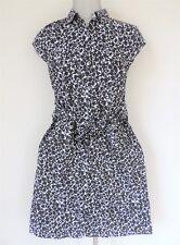 Tommy Hilfiger Women's Button Down Shirtdress, Black/White, Size: s