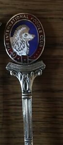 Vintage SILVER PLATED Int Poodle Dog Show UK kennel Club Prize Award Tea Spoon