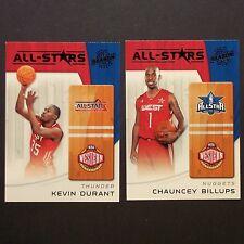 KEVIN DURANT CHAUNCEY BILLUPS 2010/11 Panini All-Stars #15 #4  Western All-Stars