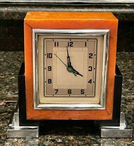 Rare 1930's Art-Deco Bond Electric Butterscotch Catalin Clock - Some Restore