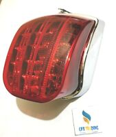 VESPA PX125, 150, 200 REAR LIGHT LED CHROME BACK LIGHT TAIL LAMP BRAND NEW