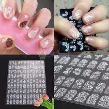 108PCS NAIL ART STICKER WATER TRANSFER STICKERS 3D FLOWER DECALS TIPS DECORATION