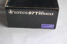 """Club M""""  Lotus 97T Turbo Renault """" 1/20 Resin Kit"""