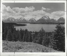 Beautiful View of Teton Mountains in Wyoming Original Photo