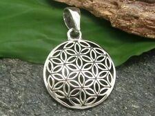 Blume des Lebens Anhänger 925 Sterling Silber Ø 1,8 cm Mandala Esoterik