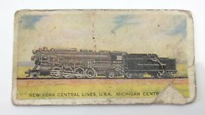 New York Central Lines Railway Engines 8000-282 Imperial Tobacco Card 49 F070