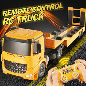 RC Truck Car Remote Control Flatbed Semi Electronic Trailer Crawler Kid Toy