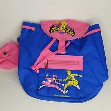 New Vintage 1995 Saban Blue Morphin Power rangers Back pack Backpack ravers bag