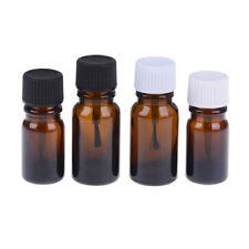 5/10ml Glass Empty Nail Polish Gel Bottle Containers Brown brush bo-J U4N8