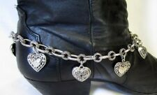 Western Cowgirl Boot Necklace/Anklet/Chain Bling Hearts New (D)