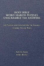 Holy Bible Word Search Puzzles Unscramble the Answers (Paperback or Softback)