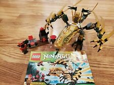 Lego NINJAGO MASTERS 70503 Golden Dragon 100% Complete W/ Manual Free Shipping