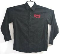 COOGI Heritage Long Sleeve Button Front Embroidered Shirt BlackMen's Size Large