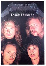 Metallica Postcard Enter Sandman James Hetfield Original Issue Collectable 4x6