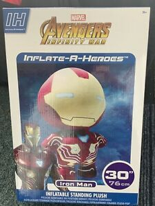 """Marvel Avengers Inflate A Hero IRON MAN 30"""" Brand New Sealed Inflatable Plush"""