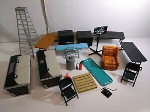 Jakks Pacific Mattel Elites WWE/WWF Figure Accessories Lot Tables Chairs