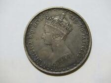 GREAT BRITAIN 1855 ONE FLORIN QUEEN VICTORIA SILVER WORLD COIN 🌈⭐🌈