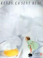 ▬► Parfum Perfume KENZO Femme Original French Print ad Publicité 1989