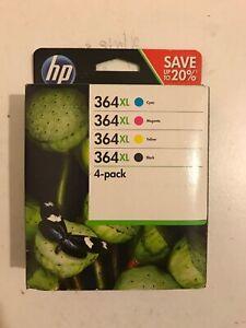 Genuine HP 364XL Multipack 4-Pack BK/M/Y/C Printer Ink Cartridges VAT.Inc No Box