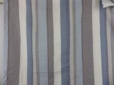 John Lewis Alvar Stripe 2 Large Off Cuts Bundle Blue Grey Linen Fabric Remnant