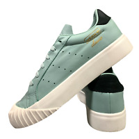 Adidas Everyn Women's Leather Shoes Size Uk 6 Green Casual Trainers EUR 39.5