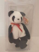 "New Original Ty Beanie Baby "" Fortune "" the Panda Bear  Mint wmt"