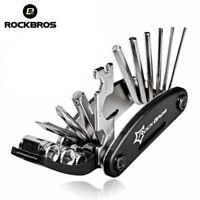 ROCKBROS Bike Cycling Bicycle Multi Mini Repair Tool Kit Pocket Tool Black