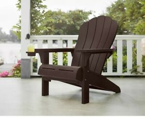 Keter Adirondack Chair Seat Resin Indoor Outdoor Garden Yard Lawn Deck Furniture