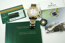 ROLEX 16623 YACHT-MASTER STEEL & 18K AUTOMATIC DIVE WATCH BOX CARD TAGS C. 2016