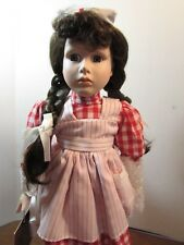 """Designs by Yoko Limited Edition Porcelain Doll 16"""" Red/White Nurse Doll"""