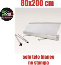 ESPOSITORE ROLL UP ROLLUP BANNER 80X200 NO STAMPA SOLO BIANCO  BORSA MONTAGGIO.
