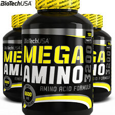 MEGA AMINO ACIDS 100 Tablets BCAA Whey Protein Pills - Muild Lean Muscle Mass