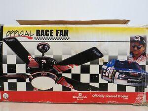 """1997 Official Race Fan DALE EARNHARDT Sr #3 52"""" Five Blade Ceiling Fan"""