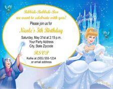 Cinderella Princess Birthday Party Invitations Personalized Custom