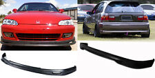 PU Front Rear Bumper LIp Spoiler Hatchback For 92-95 Honda Civic EG 3 Door 3D
